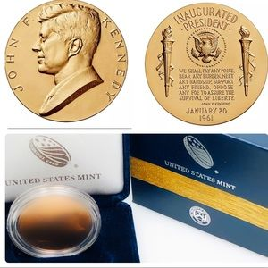 US Mint Other - John F Kennedy Bronze Medal w/ Deluxe Gift Box